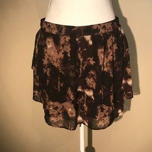Silence + Noise tiered ruffle skirt
